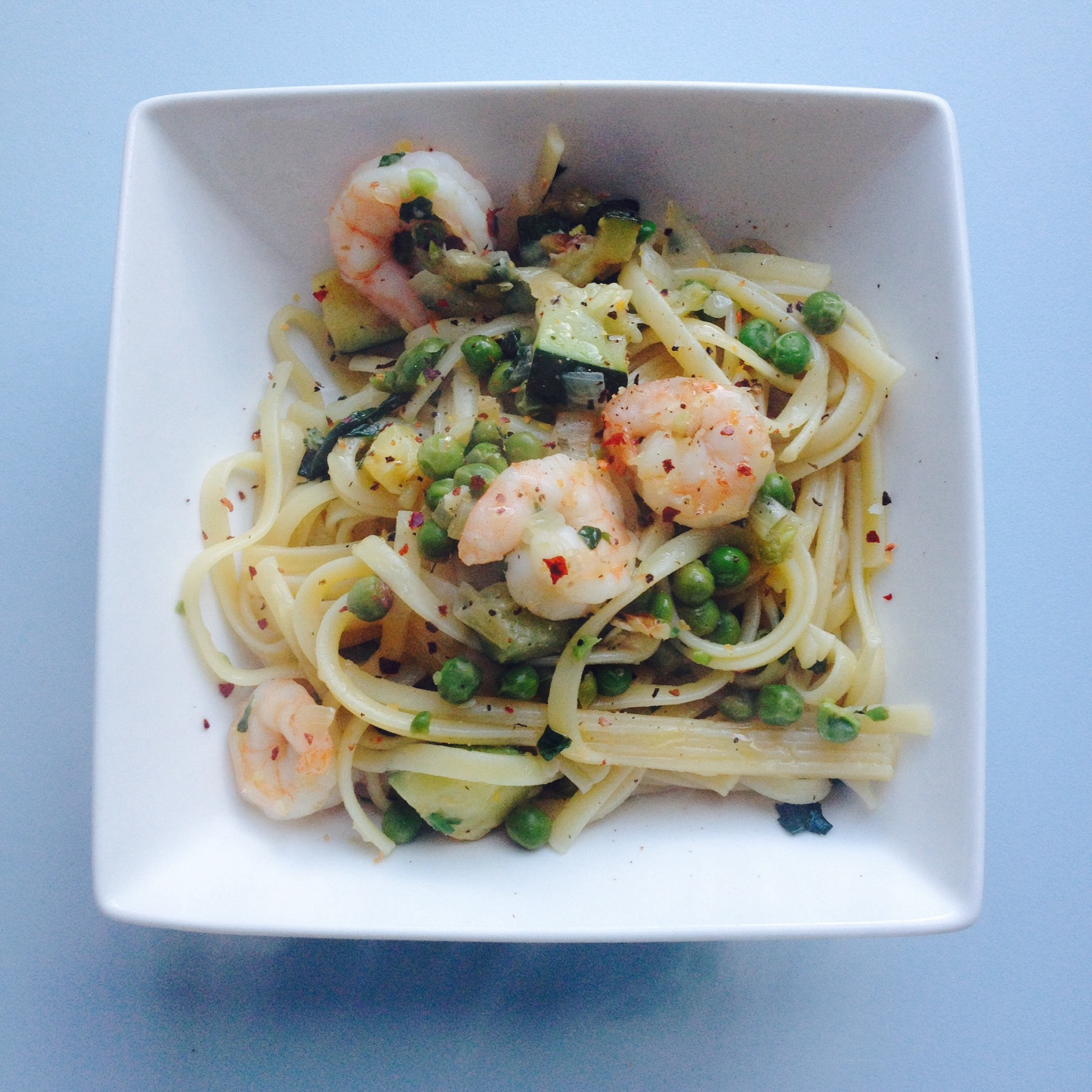 King Prawn, Courgette and Pea Linguine