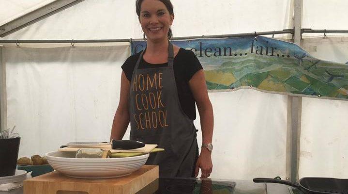 Lindsay Demonstrating at Ballantrae Festival of Food and Drink
