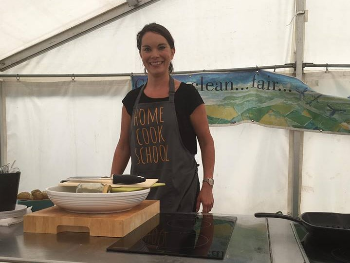 Lindsay Demonstrating at Ballantrae Festival of Food and Drink