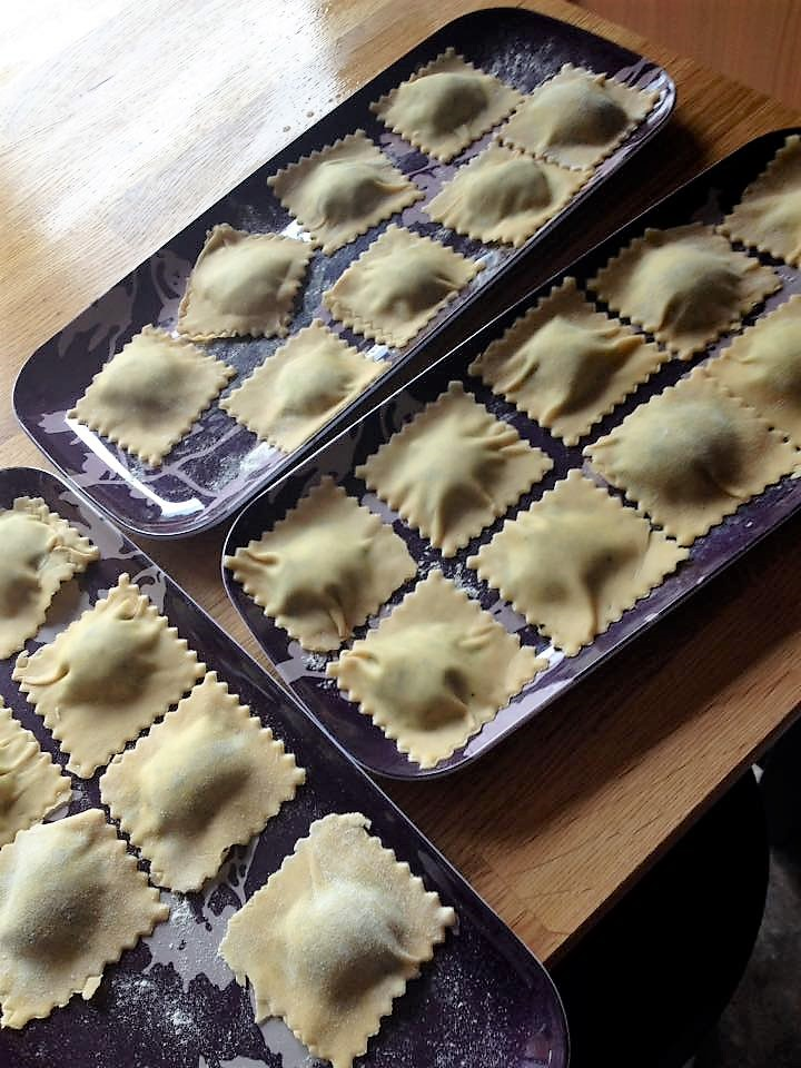 Ravioli stuffed with Spinach and Ricotta